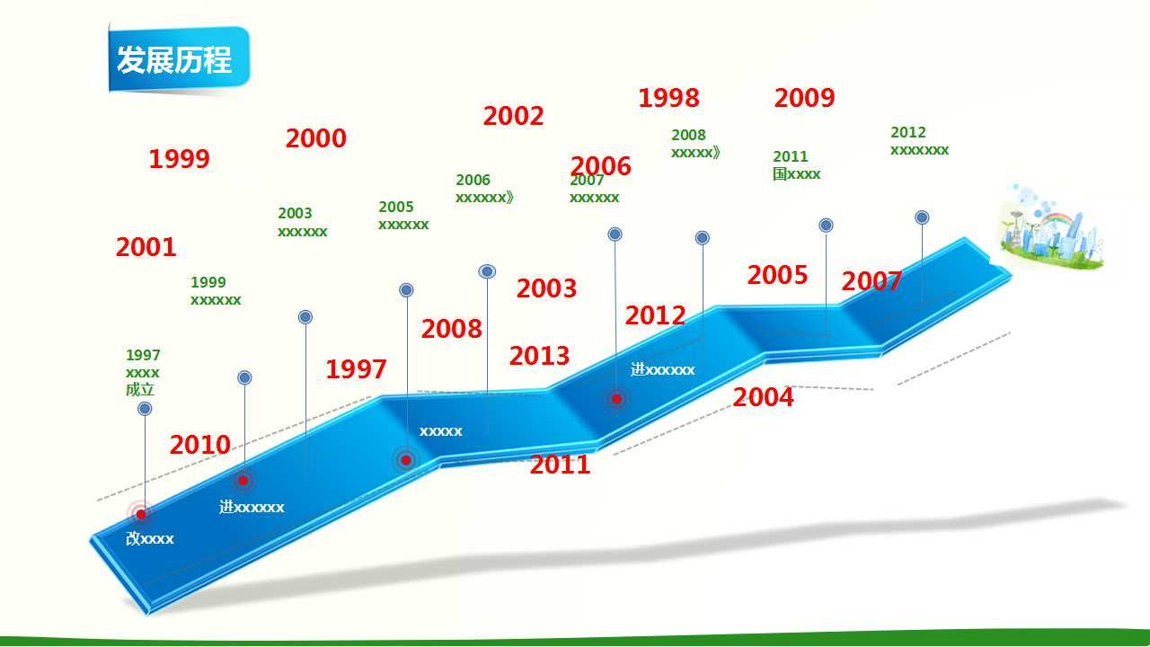 环保企业产品介绍PPT模板下载