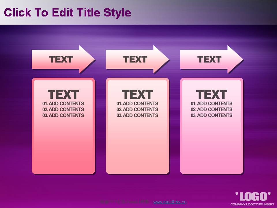 紫色高贵纹理PPT模板
