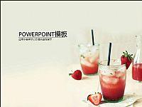 草莓果汁饮料PPT模板