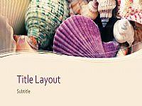 唯美紫色贝壳背景PPT模板