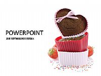 爱心蛋糕甜点PPT模板