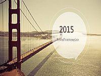 精美的2015大气商务工作总结PPT模板