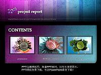 暗紫色背景的海洋生物PPT宝藏模版