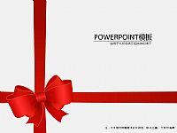 新年礼物包装PPT模板下载