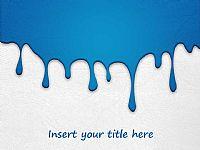 创意蓝色油漆背景PPT模板下载
