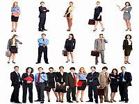 一组商业人物PPT图片素材