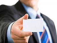 商业人物手持卡片图片素材