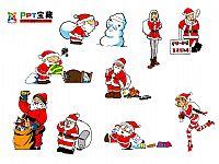 圣诞老人图片PPT素材
