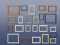 精美照片墙上的相框PPT图片素材