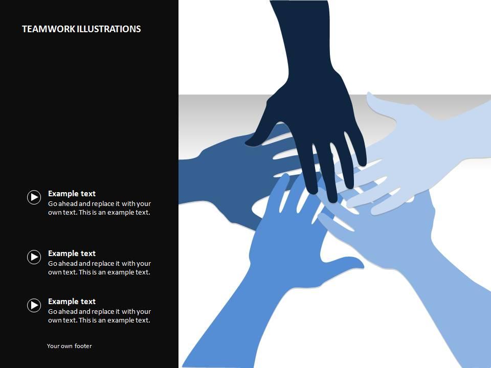 加油鼓励手型手势PPT素材