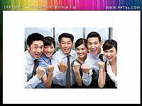 一组优秀的商务团队插图(专业制作原创设计商业PPT素材)