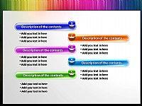 一组彩色的PowerPoint文本框标题素材