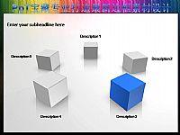 一组精美的立体正方体小插图边框PPT素材