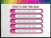 精美粉色水晶风格幻灯片目录边框PPT素材