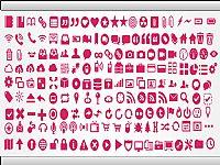 粉红生活工具PPT图标素材
