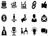 商业金融类黑色PPT图标素材