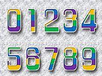 创意磨砂立体数字字母PPT图片素材