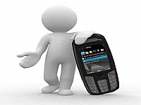 3D小人物商务打电话PPT图片素材