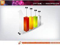 3D立体圆柱状PPT图表素材