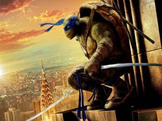 忍者神龟2破影而出PPT背景图片下载