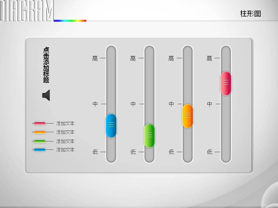 精美创意均衡器PPT图表