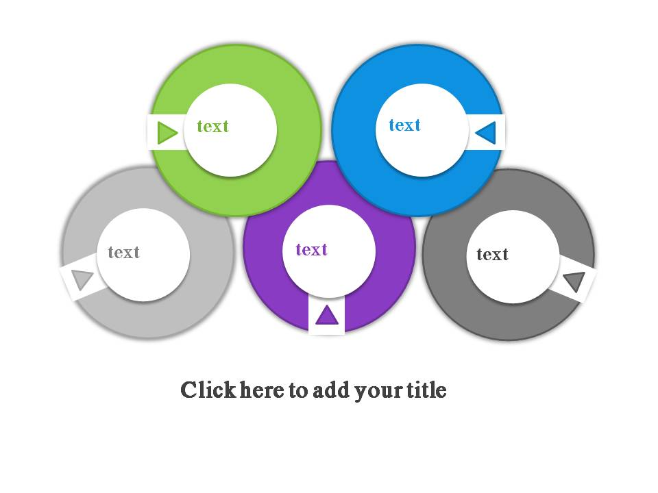 圆形并列关系精美PPT图表