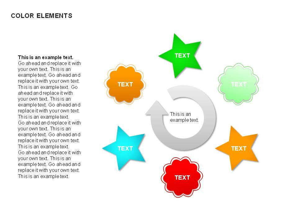 可爱的彩色图形PPT图表