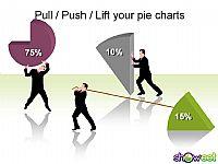 商务扇形立体PPT图表