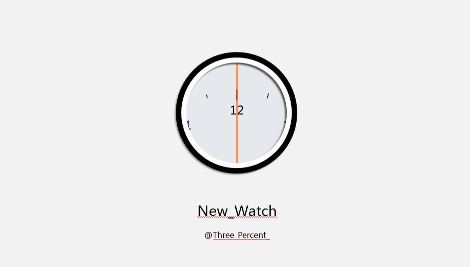 手表指示时间动画演示ppt模板下载
