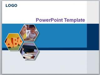 关于图表精美小学教育教学蓝色ppt模板下载