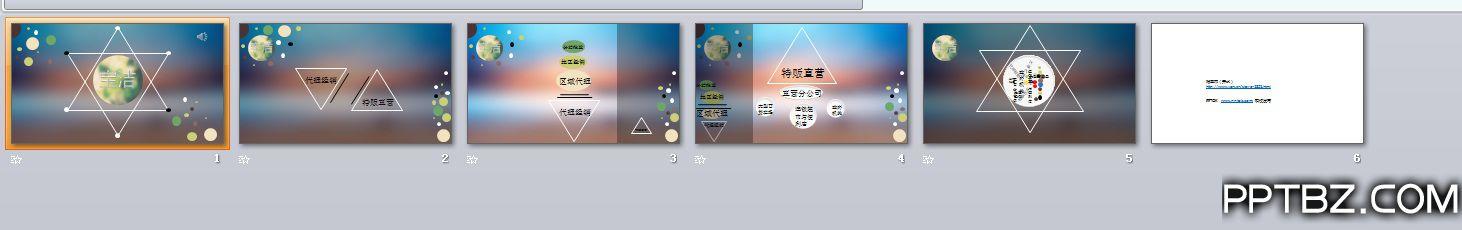 宝洁iOS风格动画ppt模板