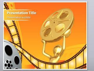 关于电影影视传媒公司ppt模板下载