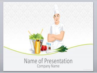 厨师自我介绍ppt模板下载
