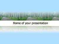 桦树林-自然风景PPT模板