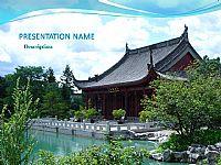 依水宫殿-风景PPT模板