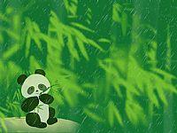 卡通大熊猫PPT模板下载