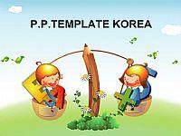 小学卡通英语教育PPT模板