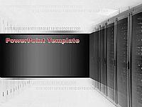 IT数据中心背景科技PPT模板