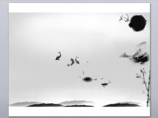 11张水墨背景图片PPT模板下载